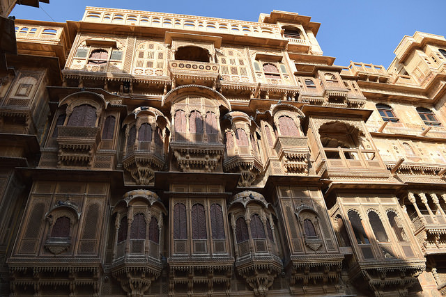 Standing tall the Patwa Ki Haveli.